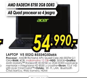 Laptop Aspire V5-552G-85554G50akk