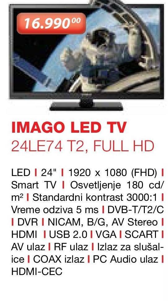 """Televizor LED 24"""" 24LE74T2"""
