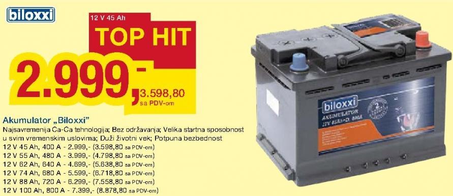 Akumulator 12V 45Ah 400A