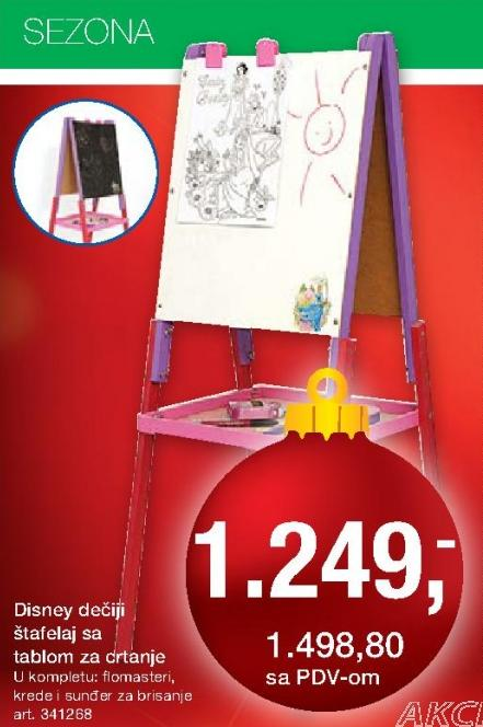 Dečji štafelaj sa tablom za crtanje