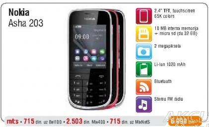 Mobilni telefon Asha 203