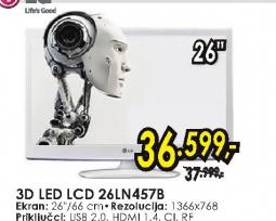 Televizor  3D LED LCD 26LN457B