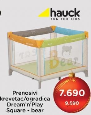 Prenosivi krevetac/ogradica Dream n play Square Bear Hauck