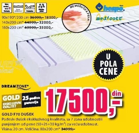 Dušek Gold F70 140x200