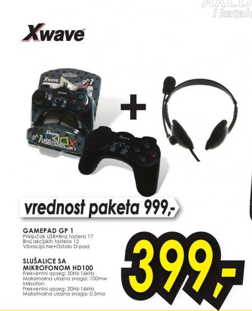 Set slušalice i gamepad GP1 + HD100