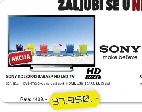 "Televizor LED 32"" KDL-32R420ABAEP"
