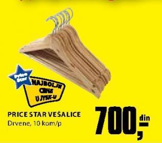 Drvene vešalice Price Star