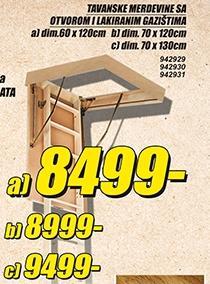 Tavanske merdevine 70x130cm