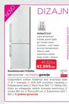 Frižider kombinovani NRK61JSY2W