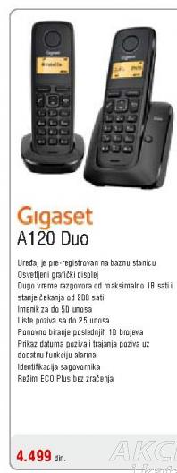 Fiksni bežični telefon A120 Duo