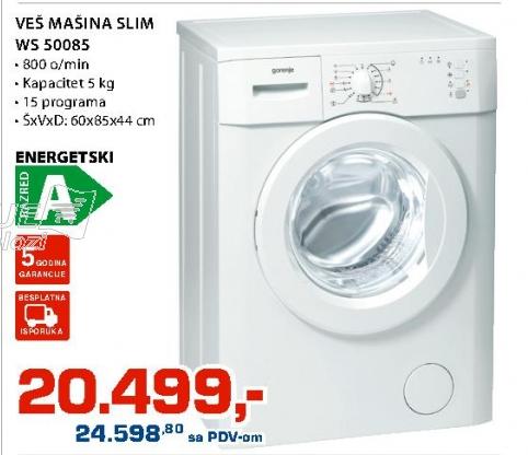 Veš Mašina Slim Ws 50085