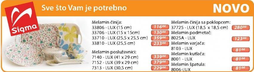 Melamin činija 33810 Lux Sigma
