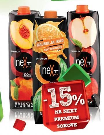 15% popusta na Next Premium sokove
