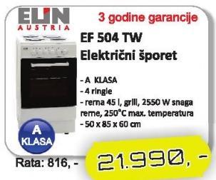 Električni šporet Ef 504 Tw