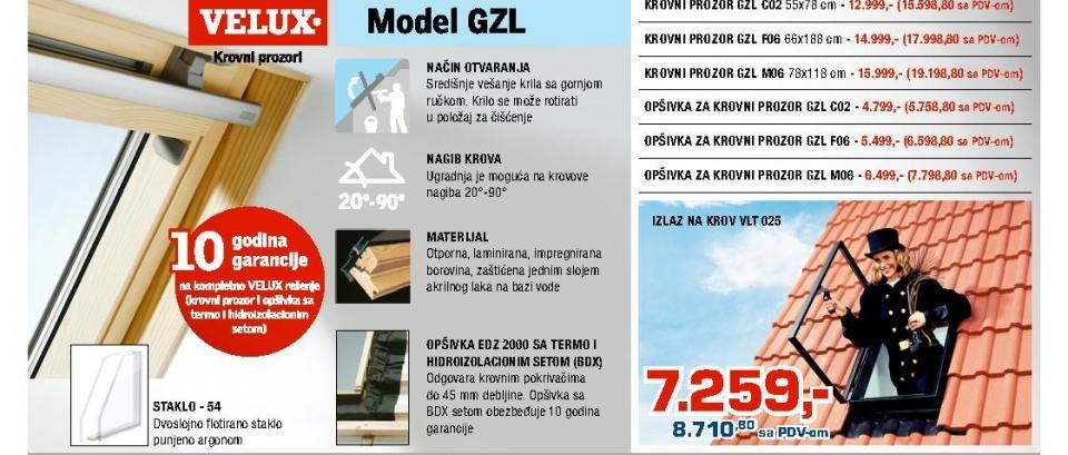 Opšivka za krovni prozor GZL M06 Velux