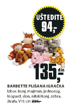 Plisana igračka Barbette