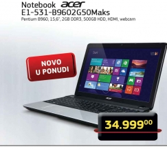 Laptop E1-531-B9602G50 Maks
