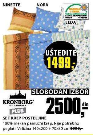 Set krep posteljine