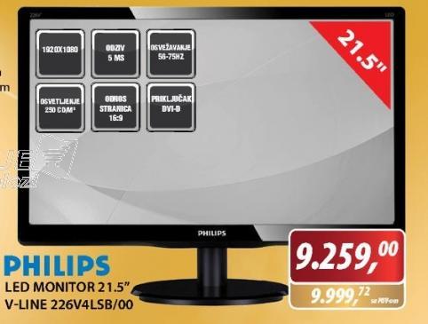 LED Monitor V-Line 226V4LSB/00