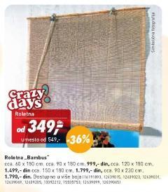 Roletna Bambus 90x230