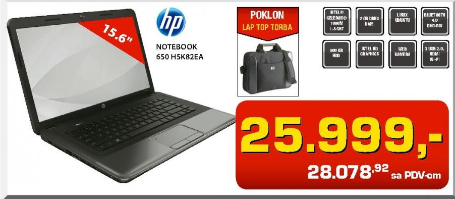 Notebook 650 H5K82EA