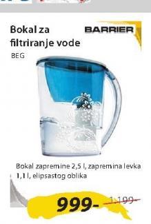 Bokal za filtriranje vode BEG