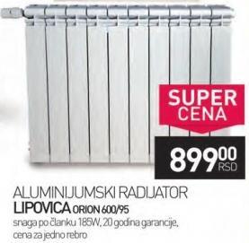 Radijator Lipovica Orion 600/95