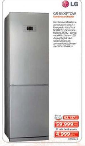 Gr-B 409Pt Qw Kombinovani Frižider
