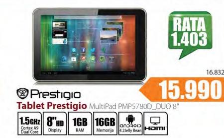 Tablet Multipad PMP5780D_DUO 8''