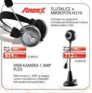 Slušalice sa mikrofonom H210 Aneex