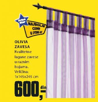 Zavesa Olivia