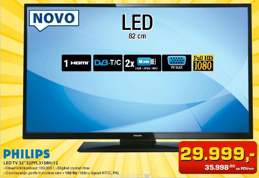"Televizor LED 32"" 32pfl3158/12"
