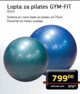 Lopta za pilates GYM-FIT