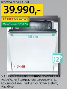 Sudomašina ugradna SMV40D30EU