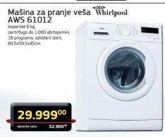 Mašina za pranje veša AWS 61012