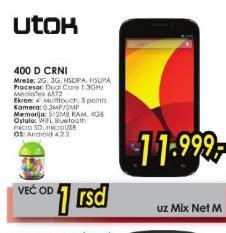 Mobilni telefon 400 D Crni Utok