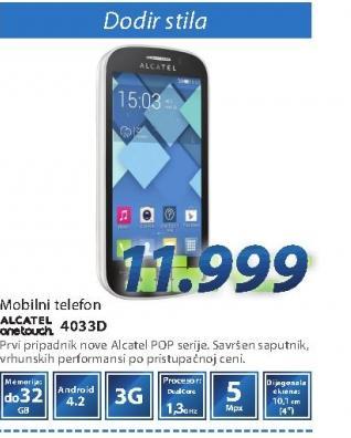 Mobilni telefon ONE TOUCH 4033D