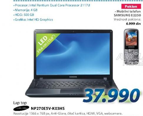 Laptop računar NP270E5V-K03HS