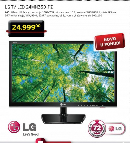 Monitor TV LED 24MN33-PZ
