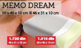 Jastuk Memo Dream 50x40x10