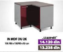 Kuhinjski element IN MDF DU 2K bordo sjaj