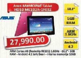 Tablet Memo Pad Hd10 Me102a-1f032