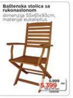 Baštenski stolica sa rukonaslonom