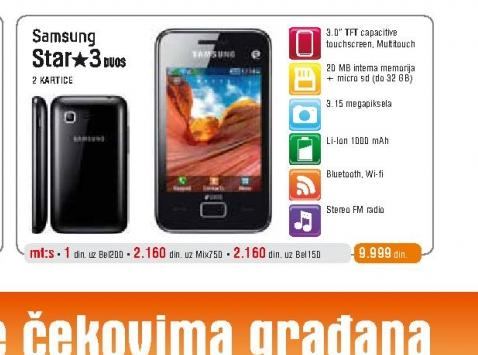 Mobilni telefon Star 3 S5222