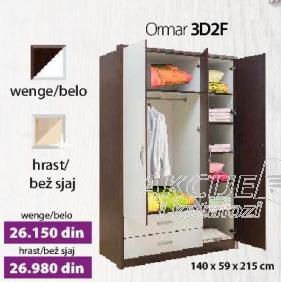 Ormar 3D2F Wenge belo