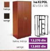Garderober Iva K3 Pol Wenge