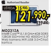 Laptop MacBook Air MD231Z/A