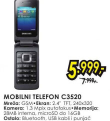 Mobilni telefon C3520 GRAY