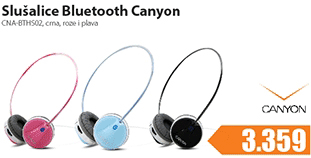 Slušalice CNA-BTHS02BL Bluetooth