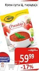 Supa krem paradajz